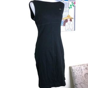 Lacoste Black Boatneck Dress Size 38 US 6